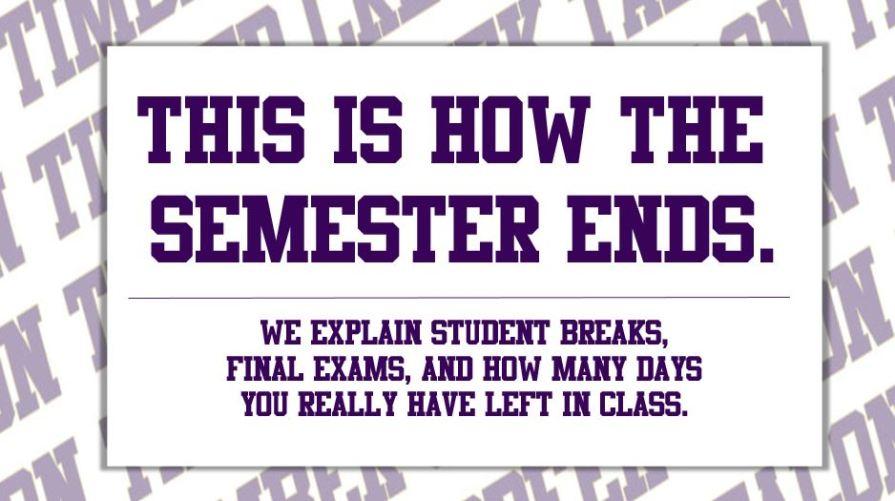 how the semester ends full