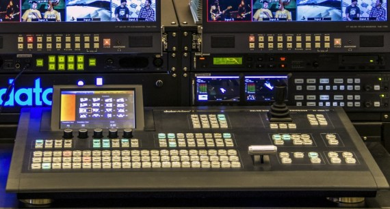 Generic example of a video switcher. Not exactly representative of what we'll be using.