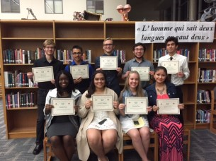 Timber Creek students inducted into the French Honor Society.