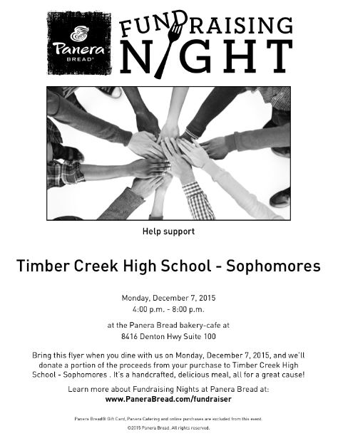 soph spirit night panera dec 7