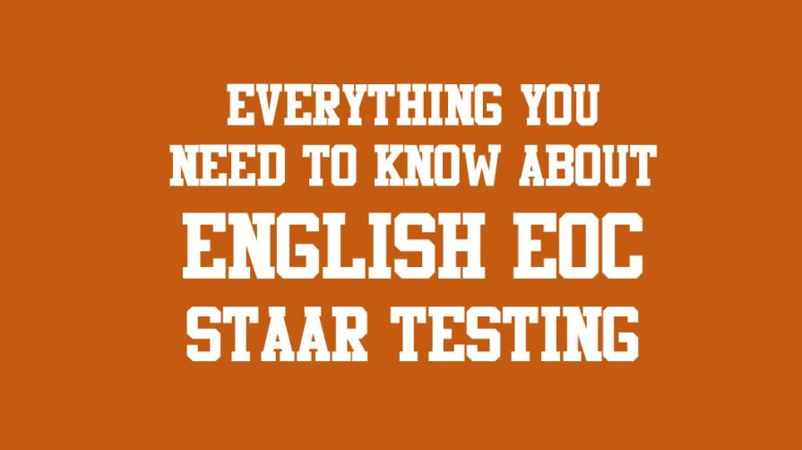 UPDATED: 2019 STAAR/EOC English Exams on April 9 and 11 ...