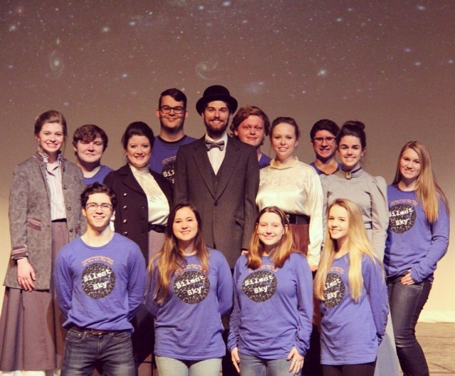 """The cast and crew of Timber Creek's staging of """"Silent Sky"""""""