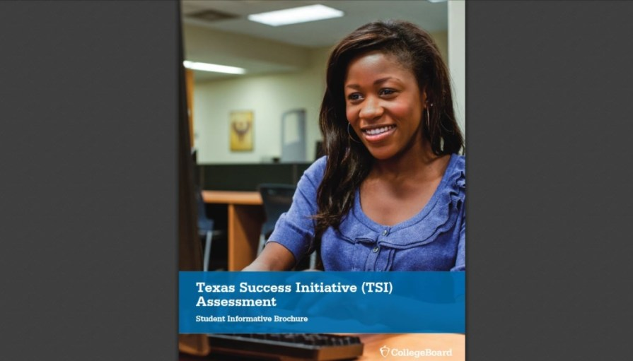Capture of the cover to the TSI Student Handbook, courtesy of College Board.