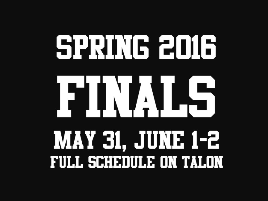 spring 2016 finals