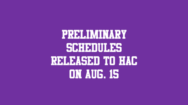 schedules released