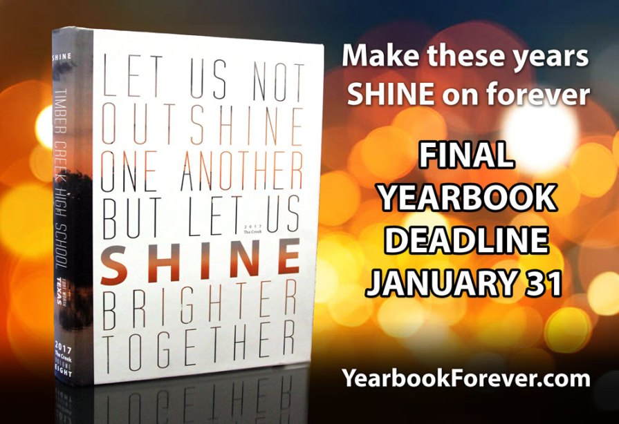 Yearbook Sale Ends On Jan. 31 | Timber Creek Talon