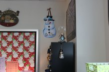 Decorations in Cathy Reeves room.