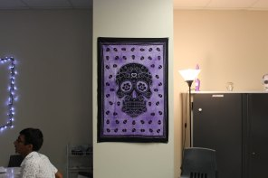 Decorations in Karen Bates-Scull room.