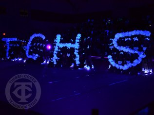 """Photos from the Sept. 8, 2017 """"Lights Out"""" pep rally. (Photo by Marisa Harris.)"""
