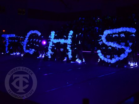 "Photos from the Sept. 8, 2017 ""Lights Out"" pep rally. (Photo by Marisa Harris.)"