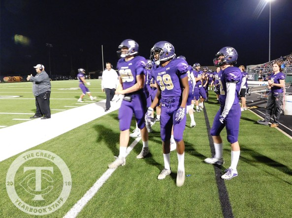 Photos from the Sept. 29 Gold Out varsity football game vs. Fossil Ridge. (Photo by The Creek Yearbook photographer Tia Baynard.)