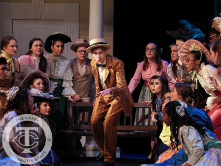 """Photos from a media preview of Timber Creek Theatre's """"The Music Man."""" (Photos by The Creek Yearbook photographer Marisa Harris.)"""