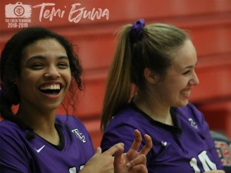 Photos of the 2018 TCHS Volleyball team. (Photos by The Creek Yearbook photographer Temi Ejuwa)