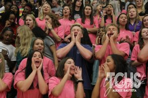 Photos from the Pink Out pep rally on Oct. 10th (Photo by The Creek Yearbook Photographer Alexee Bautista)