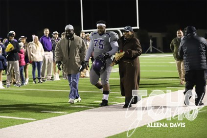Photos from the Varsity Football Game Senior Walk on Nov. 7. (Photo by The Creek Yearbook Photographer Aleena Davis)