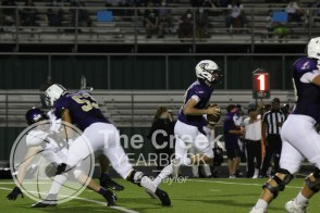 Photo from the Sept. 25 varsity football game vs. Chisholm Trail High School. (Photo by The Creek Yearbook photographer Zoe Taylor)