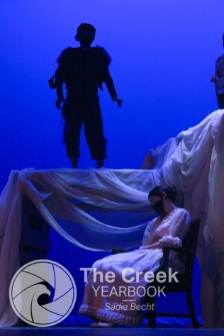 """Photos from the Falcon Theatre production of """"Peter Pan."""" (Photo by The Creek Yearbook photographer Sadie Becht.)"""