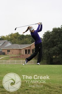 Photos from the Varsity Golf match at the Iron Horse Golf Course on Oct. 19. (Photo by The Creek Yearbook photographer Sadie Becht)