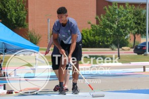 Photos from a senior parking work day. (Photo by The Creek Yearbook Photographer Temi Ejuwa)