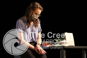 """Photos from the theatre production of """"I and You"""" by Lauren Gunderson. (Photo by The Creek Yearbook Photographer Lauren Graham)Photos from the theatre production of """"I and You"""" by Lauren Gunderson. (Photo by The Creek Yearbook Photographer Lauren Graham)"""