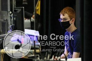 """Photos from the theatre production of """"I and You"""" by Lauren Gunderson. (Photo by The Creek Yearbook Photographer Lauren Graham)"""
