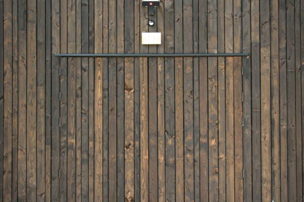 Bardage des portes extérieures
