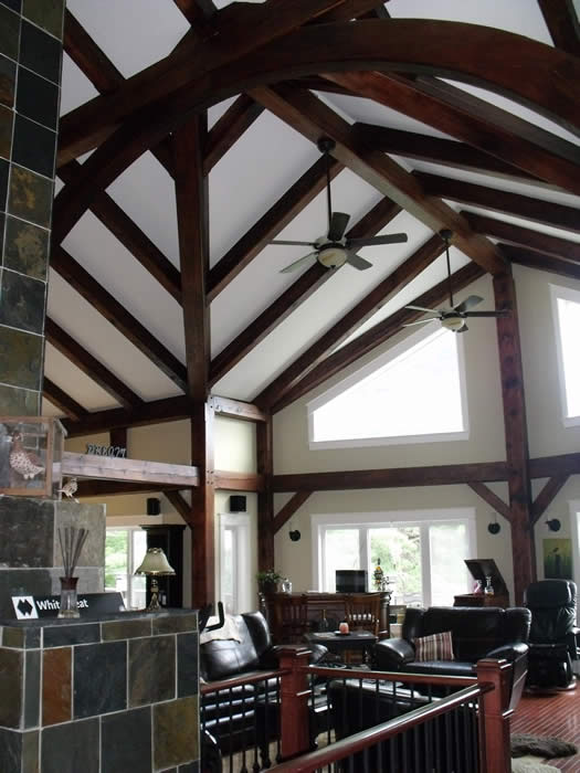 Great Room And Kitchen Timber Frame Addition
