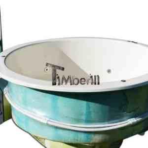 Fiberglass sunken in ground built in hot tub jacuzzi