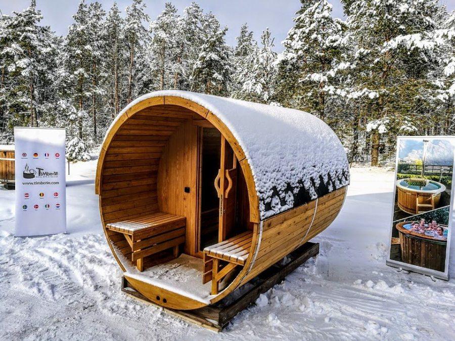 Sauna Extérieur Avec Terrasse Et Chauffage électrique