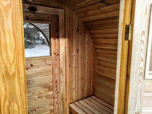 Zewnętrzna Sauna Beczka z przebieralnią