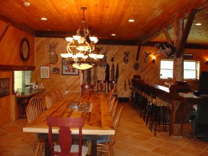 view inside Lodge