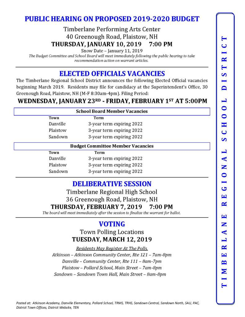 Important Annual Meeting and Election Information – Timberlane