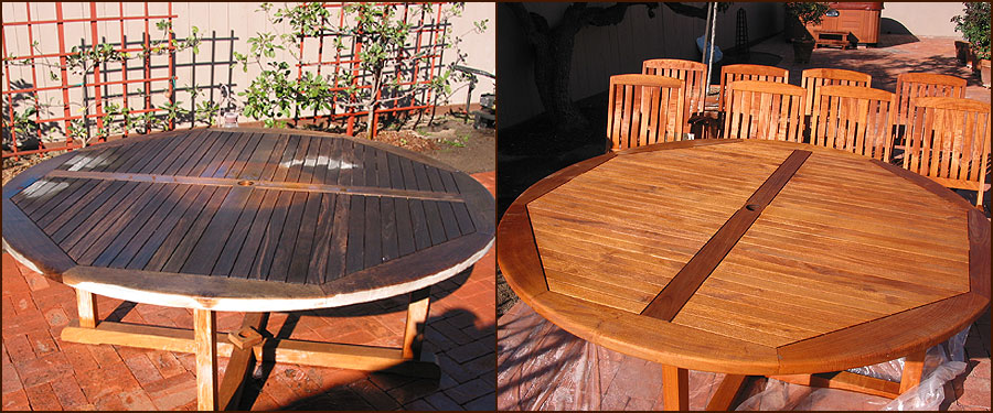 Indiana Deck Furniture Refinishing Teak Cedar Redwood Or