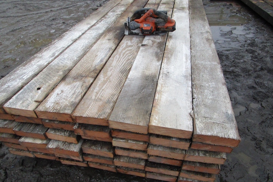Recycled Oregon Douglas Fir Beams For Furniture Timbers