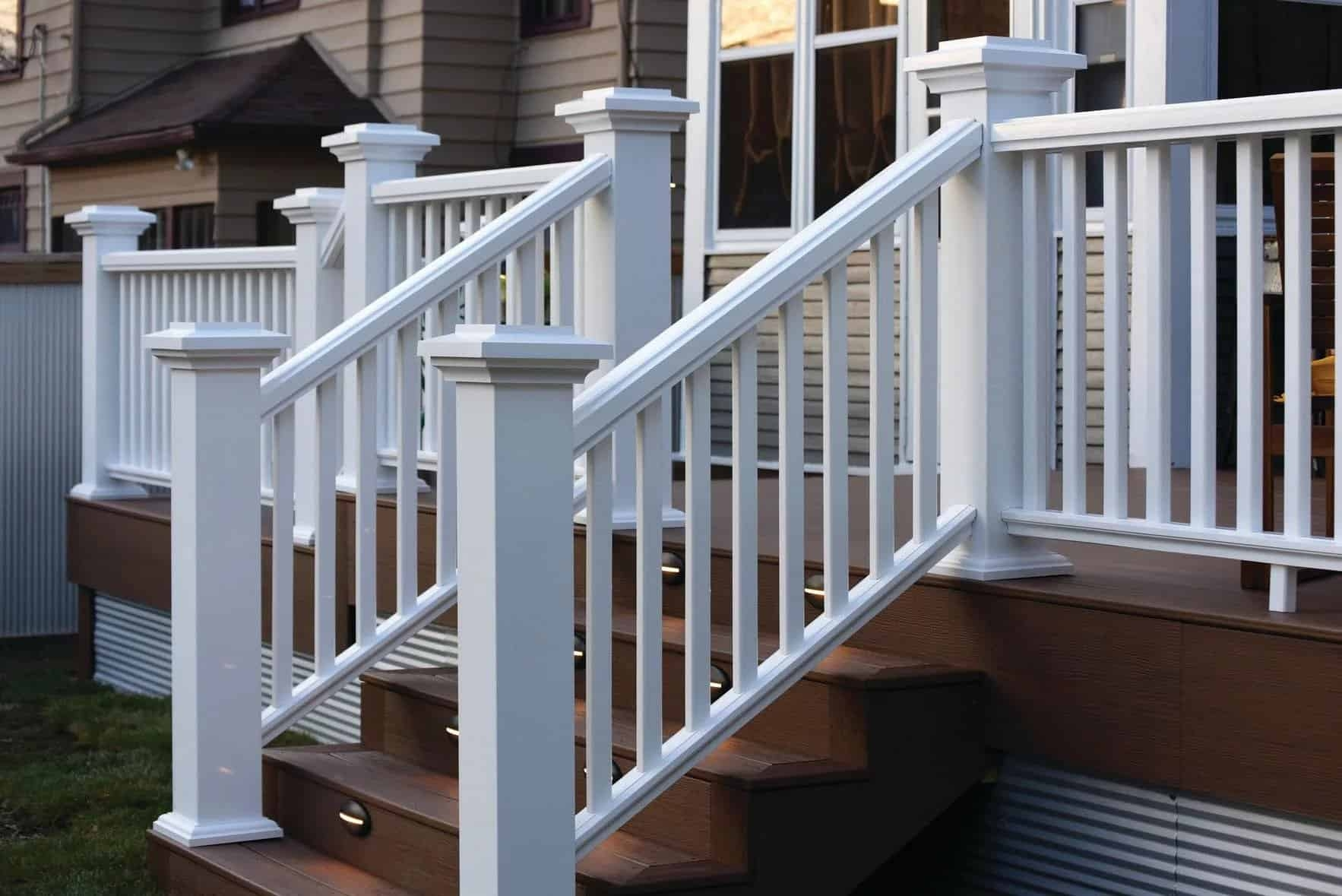 How To Install Timbertech Deck Railing Timbertech | Outdoor Railings For Steps | Design | Hand | Porch | Front Door | Simple