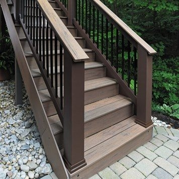 Azek Railing Is Now Timbertech Timbertech | Outdoor Stair Contractors Near Me | Wood | Stair Railing | Metal | Trex | Spiral Staircase