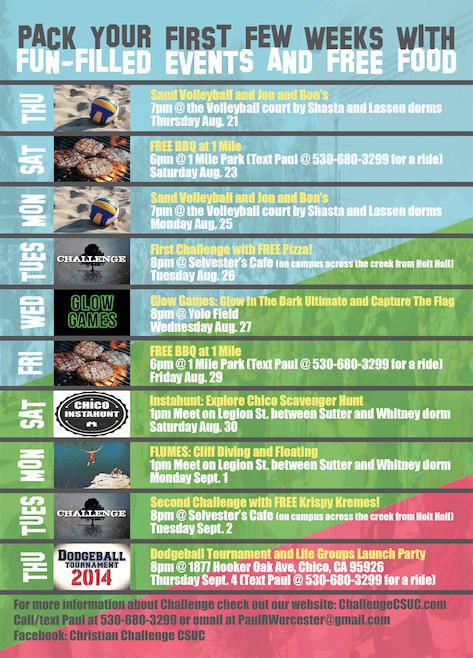 worcester first week events