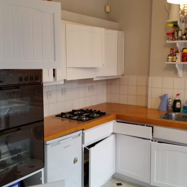 kitchen cupboard doors repainted to white complete