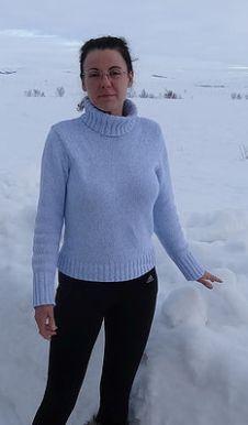 Patricia Smith in the snow