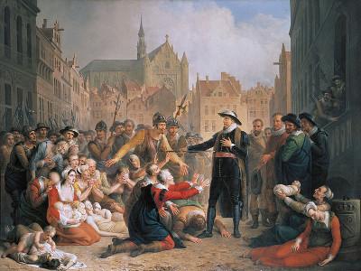Burgomaster van der Werf offers sword