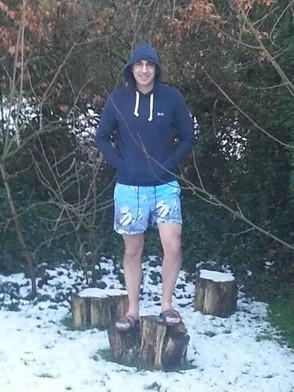 Hoodie in the snow