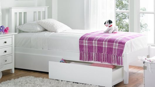 Children S White Single Bed