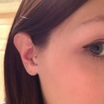 Vertical tragus piercing