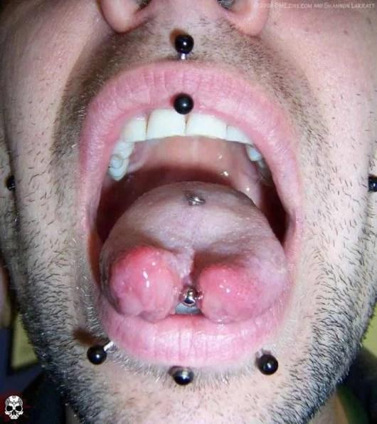 Tongue Surface Piercing Split Piercing Croydon Timebomb Piercing