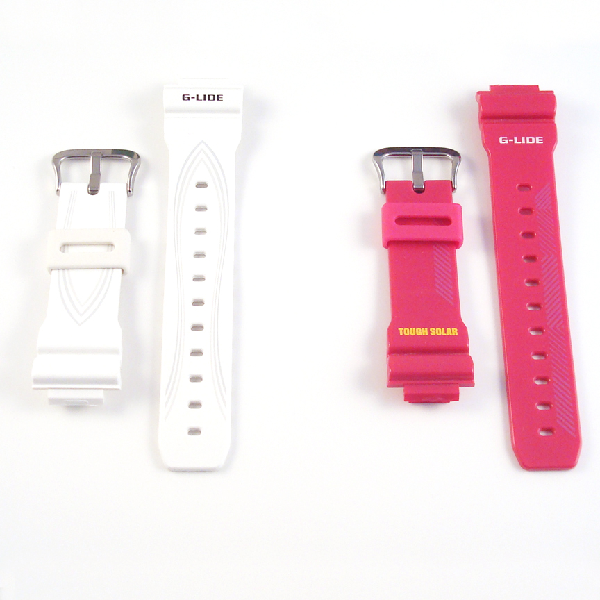 Original Ladies Watch Band Strap Casio Baby G BGA130 Red