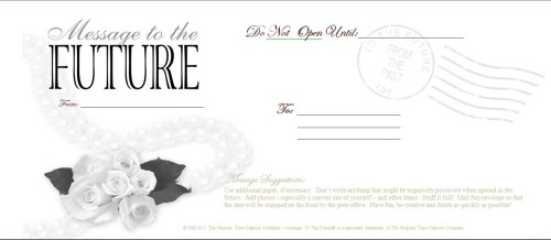 Wedding Time Capsule - Message To The Future Envelope