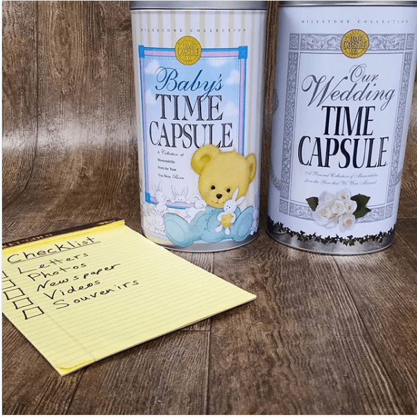 Ideas Checklist for Time Capsule