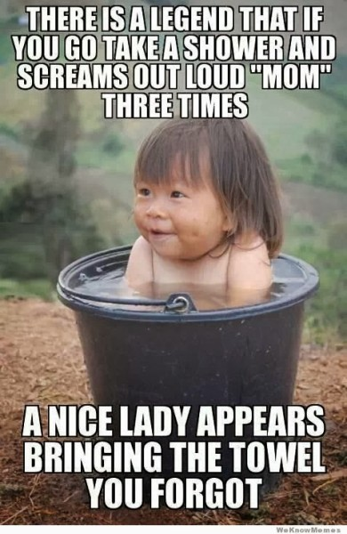 Mothers Day Quote - Baby in bucket