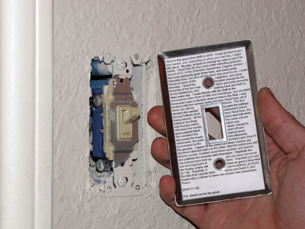 Wall Time Capsule - Lightswitch