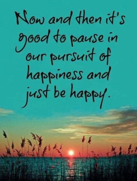 Just be happy Quote